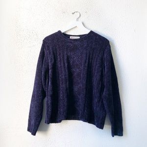 Milano Design Group | Navy Cable Knit Sweater L